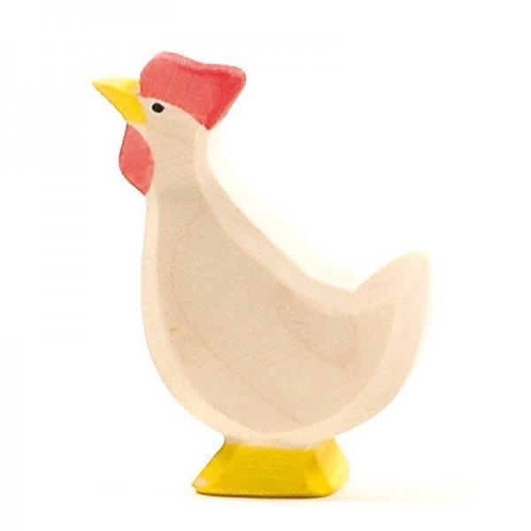 Ostheimer Huhn weiß Kopf hoch 13113